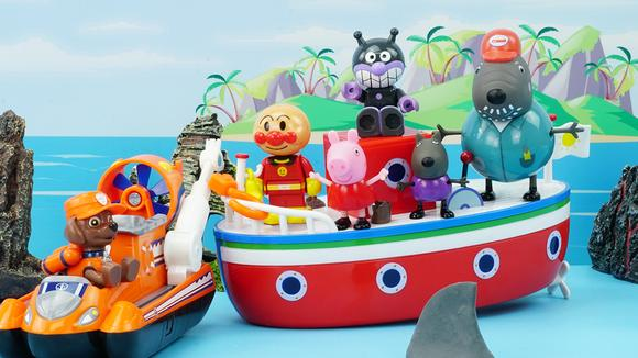 汪汪队立大功之露玛帮助小猪佩奇与狗爷爷的度假船