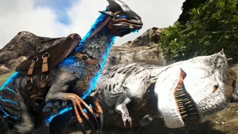 方舟生存进化:普罗米修斯 镰刀龙的伤害是真的高