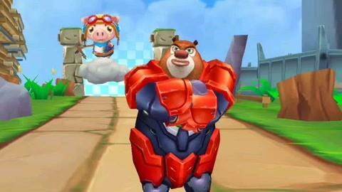 钢铁熊大和森林之王的合作   熊出没之探险日记游戏