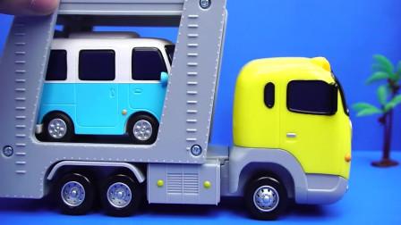 泰露小巴士大号托运车韩国玩具Tayo