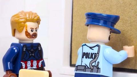 乐高城市警察美国队长劫匪逃跑