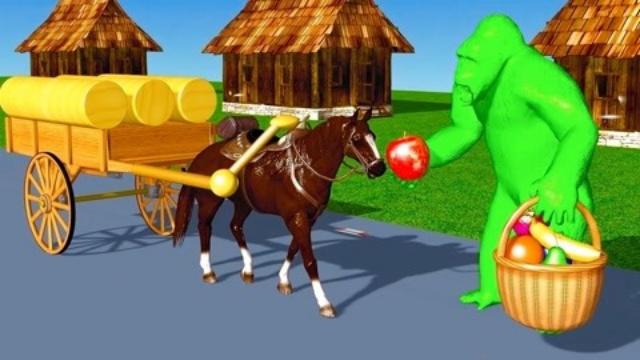 萌宝3D启蒙课堂!蛇引起的慌乱,打扰大猩猩了