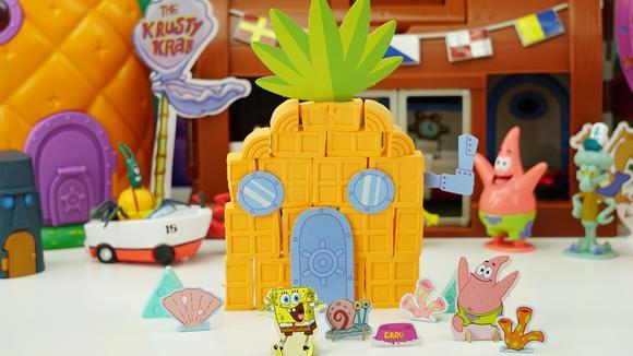 海绵宝宝之3D打印泥菠萝屋玩具套装分享