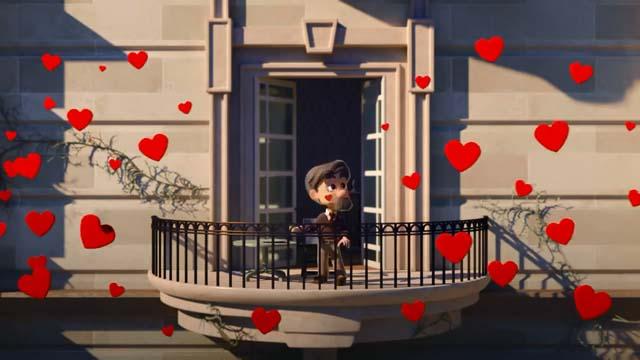 【动画短片】被阳台上秀恩爱狂虐的老爷子 Love on the Balcony