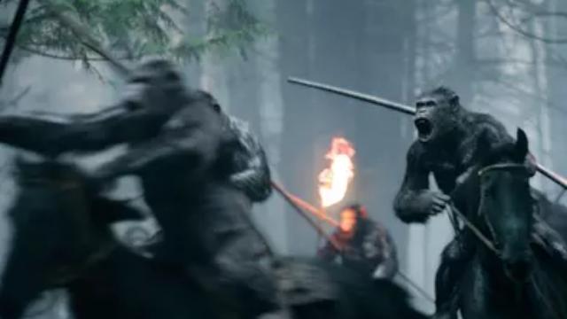 【猩球崛起3:终极之战】新预告片流出 劲酷男神凯撒惹粉丝舔屏