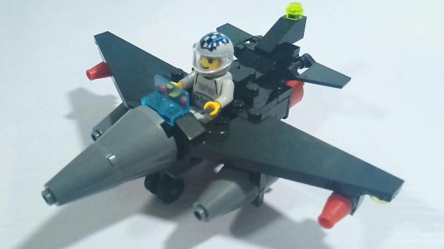 积木玩具军事战队系列之黑鹰轰炸机亲子玩具乐园
