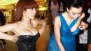韩星王光娜真空深V走红毯不慎走光露胸垫头条-八卦-明星资讯-娱乐2014飢餓30
