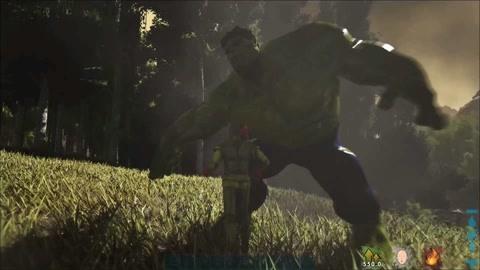 【糖蒜】方舟生存进化 一拳超人打爆史前恐龙 挑战钢铁侠绿巨人