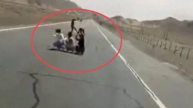 游客蹲高速拍照险被撞 司机怒斥:这是想拍这辈子最后一张照片?