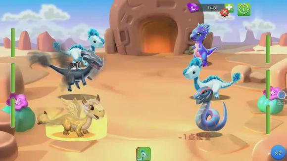 萌龙大乱斗15期侏罗纪世界游戏史诗红花龙大海游戏解说