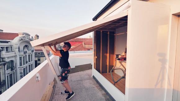 小伙动手打造一个工作室,就在自家阳台上,这样的生活太享受了