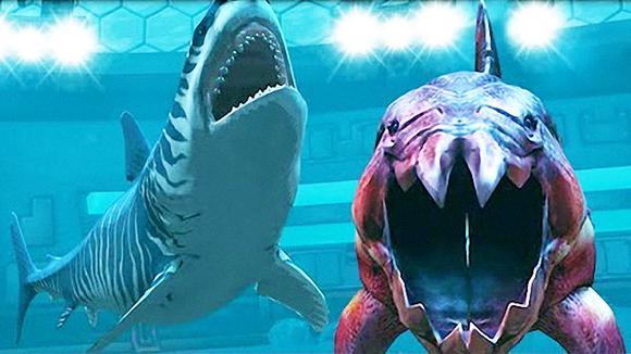 侏罗纪世界游戏:被邓氏鱼压制的三尖股龙 恐龙公园