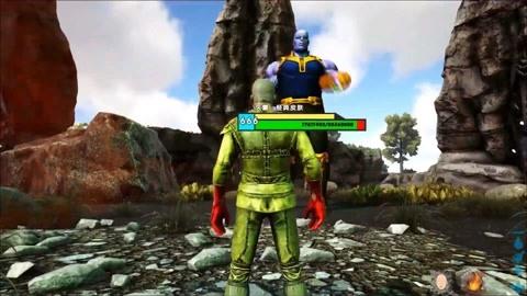 方舟生存进化  一拳超人vs灭霸夺取无限手套