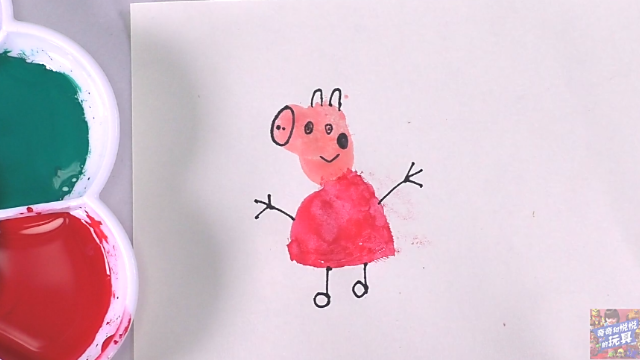 奇奇和悦悦的玩具 趣味指纹画 粉红猪小妹