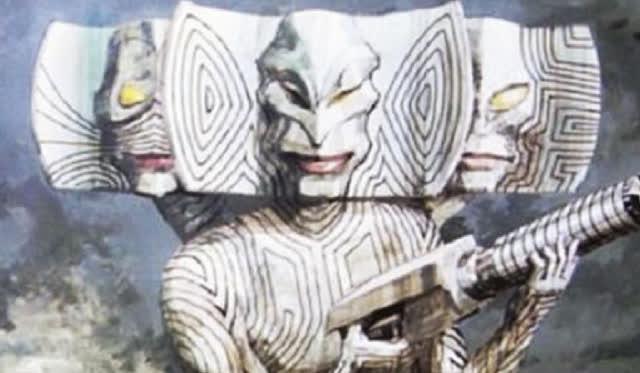 光棍影院怪兽有三张脸吓唬小孩子,奥特曼:你怎么还有三副面孔呢?