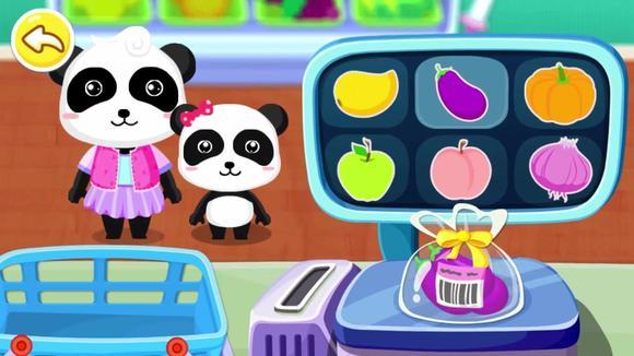 宝宝巴士角色扮演游戏—宝妈太会教育孩子了,超市购物也能学知识