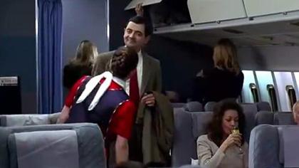 憨豆先生头一回坐头等舱闹笑话!