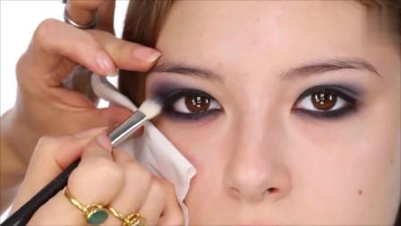 时尚美妆,小姐姐这样化眼妆真的好漂亮啊,时尚 高级 优雅 让你成为宴会焦点哦